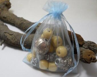 25 Organza Bags 3.5x4.5, Light BlueOrganza Bag,Gift Bag, Drawstring Bag, Sheer Organza,Favor Bag,Supplies,Sheer Bag,Jewelry Bag,Organza