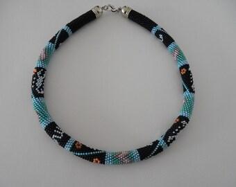 Crochet necklace beaded rope bead crochet necklace horoscope Scorpio