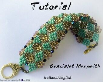 Bracelet Merneith ( Tutorial grafico in  Italiano o in Inglese)