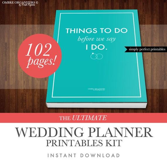 Wedding Planner Kit PDF Digital Printables