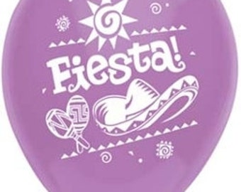 10 - Fiesta Latex comes in asst colors Balloons birthday party supplies mexican restaurant
