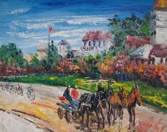 Horses Carriage, Mackinac Island, MI-Pen King -A822