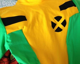 Rogue Inspired X-Men CUSTOM Bodysuit Cosplay - Classic Comic Book Costume Spandex