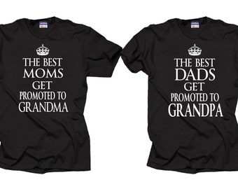 Gift For Parents Couple T-Shirts Baby Announcement Birthday Tee Shirt