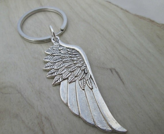 Large Angel Wing Key Chain Party Favors Wedding By ThePeapodShop