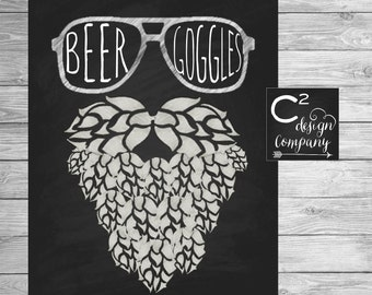 Beer Goggles 8x10 Printable Sign