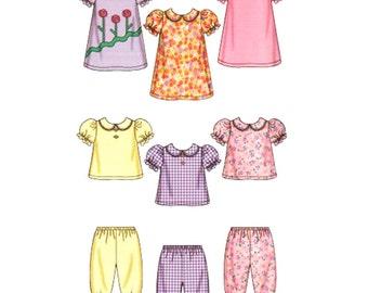 Simplicity Sewing Pattern 5644 Babies' Dress, Top,Pants  Size:  XXS-L  Uncut