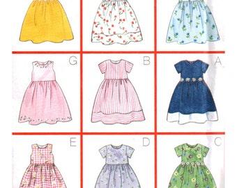 Butterick Sewing Pattern 5959 Girl's Dress  Size:  2-3-4-5  Uncut