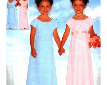 Butterick Sewing Pattern 4835 Girl's Dress  Size:  5-6-6X  Uncut