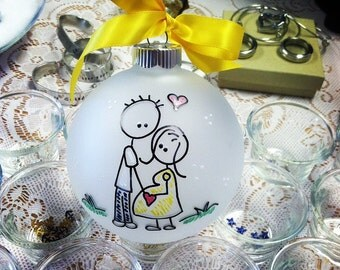 We're EXPECTING PERSONALIZED COUPLE Christmas Ornament