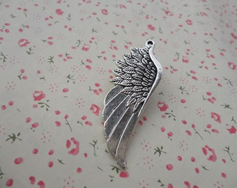 50pcs antique silver plated Metal Charms-Angel Wings / Eagle Wings charms pendant 57X20mm
