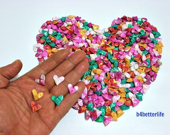 365pcs Assorted Colors Mini Size 3D Origami Hearts LOVE. (CY paper series). #FOH-122.
