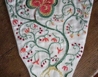 Hand embroidered 18thc. style stomacher
