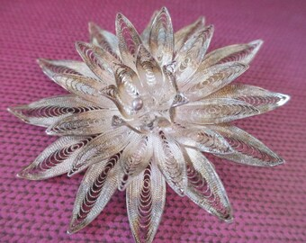Sterling Silver Flower Pin