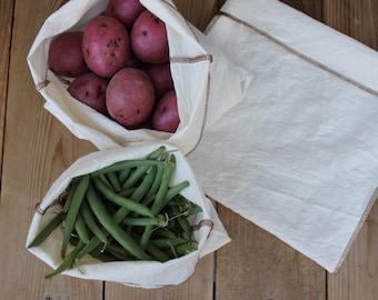 Reusable farmers market bags. Set of 3
