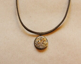 Vintage Clockwork Watch Necklace