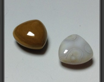 Gemstone hearts/ small/ not drilled/ 11 x 11mm