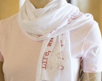 Scarf - Personalized Scarf - Knit Jersey Raw Edged Scarf - Gift For Her - Anniversary Gift - Valentines Gift