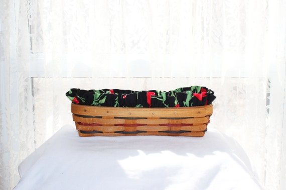 Handmade Longaberger Basket Liners : Longaberger cracker basket liner handmade by farmersmarket