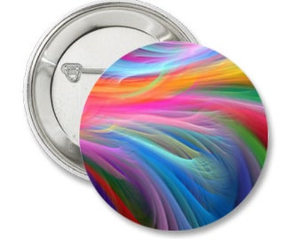 Pinback Button or Magnet or Pocket Mirror or Bottle Opener Rainbow