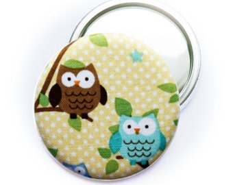 PIN back button or Pocket mirror or bottle opener OWL