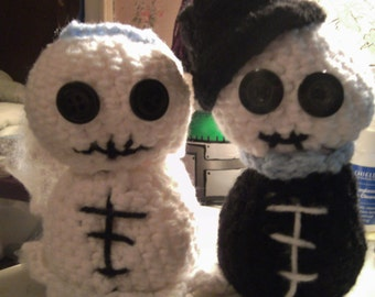 Cute Crochet Critter - Skeleton Bride and Groom