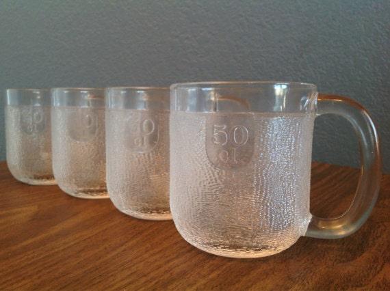 vintage large iittala finland krouvi glass mugs by. Black Bedroom Furniture Sets. Home Design Ideas