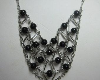 Peruvian Beaded Bib Necklace #7