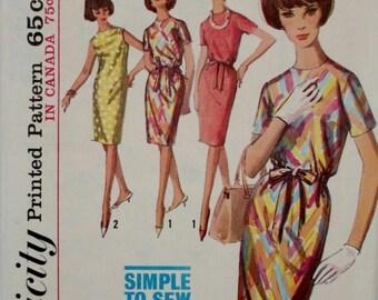 Simplicity 5796 Vintage 1960's Misses Dress Size 12
