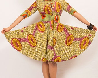 Full circle trench dress