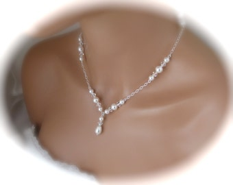 Pearl Necklace Bridal Jewelry Wedding Necklace Swarovski pearl and Crystal Necklace Wedding Jewelry