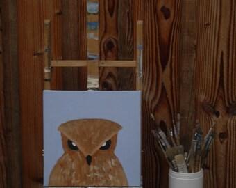 acrylic painting owl