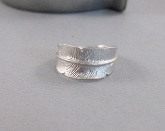 Leaf Ring,Matte Silver Ring,Leaf,Matte Silver Leaf,Silver Leaf,Ring,Sterling Silver Ring,Silver Twig,Silver Ring,Branch Ring Seamaidenjewel.