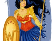Armoured Wonder Woman Print