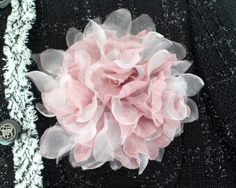 Pink Flower corsage brooch pins,prom,wedding corsage,boutonniere