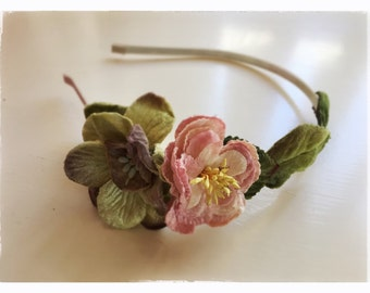 Victorian Velvet Rambling Rose Hairband