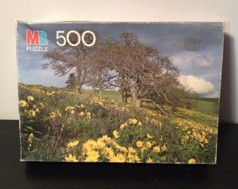Milton Bradley Coventry Series Puzzle - 500 Pieces - Vintage 1980s Jigsaw - Lyle, Washington