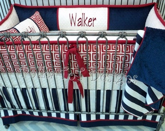 Red White & Blue Baby Bedding: Walker