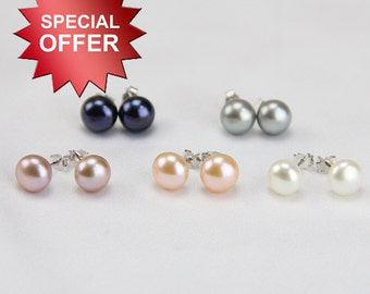 freshwater pearl stud earrings,real pearl earrings stud ,button pearl earrings,button earrings,bridal pearl earring stud,stud pearl earrings