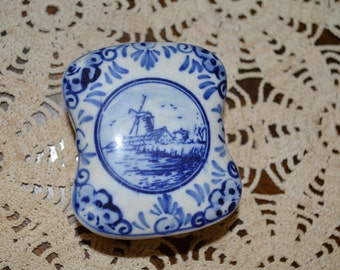 Delft Blue Trinket Box