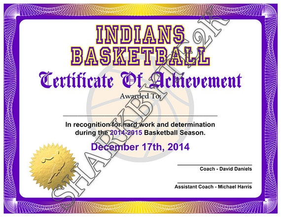 5 in 1 Sports Award Certificate Achievement Photoshop – Basketball Certificate Template