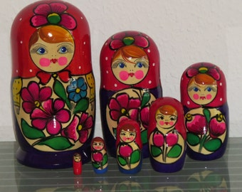 Babushka Matryoshka Matryoshka Russian Dolls Matruschka 7 pcs 7 pcs