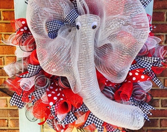 Alabama Elephant Mesh Wreath
