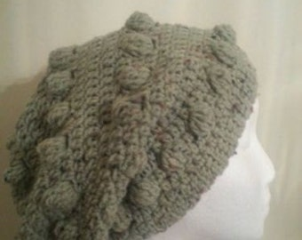 Hand Crocheted Hobo Hat. 4 Colors to Choose From. Mint Green, Berry, Beige and Forest Green Available for Immediate Shipment