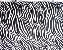 """Zebra print Cotton Fabric.  44"""" wide and sold by the yard."""