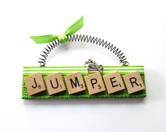 Horse Jumper Scrabble Tile Ornament