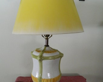 Frederick Cooper lamp with F. C. shade / clearance