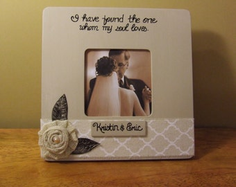 Personalized wedding frame Gift to Bride and groom Wedding frame Wedding gifts Christian frames Bridal shower gift Engagement frame Neutral