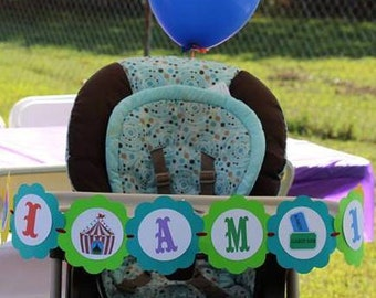 Carnival Themed 1st Birthday High Chair Banner