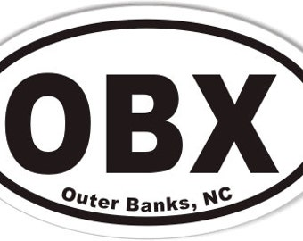 OBX Outer Banks, NC Oval Sticker